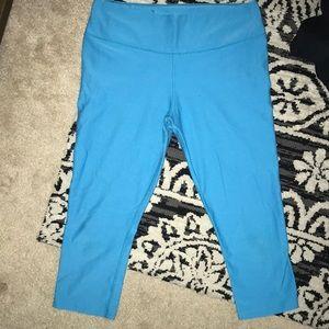 Blue Nike Dri-Fit Crop leggings